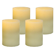 Pacific Accents Set of 4 3x4 Flat Top Wax Candles - H283459