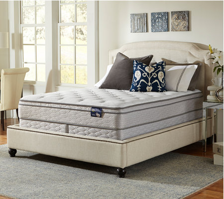 Serta Glisten Euro Top California King Mattres s Set — QVC