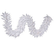 9 White Sparkle Spruce Garland with LED - H364659