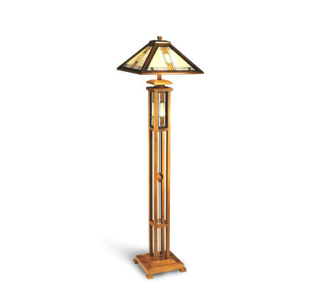 dale tiffany tiffany style mission wood floor lamp. Black Bedroom Furniture Sets. Home Design Ideas