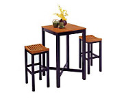 Home Styles Bar Stool - Black with Oak Seat - H131560