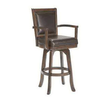 Hillsdale Furniture Ambassador Swivel Bar Stool Qvc Com
