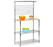 Honey-Can-Do Chrome 2-Shelf Urban Bakers Rack - H184060