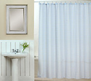 Tim Gunn Collection Gingham Shower Curtain Set with Hooks - H203760