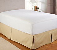 Perfect Fit Memory Foam QN Mattress Pad w/ Stain Repel & Skirt - H205160