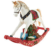 22-1/4 Holiday Decorative Rocking Horse by Valerie - H205760