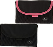 As Is Set of 2 On the Go Belt Free Pouches w/ RFID by Lori Greiner - H212060