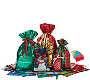 Kringle Express 56pc Customer Favorite Prints Drawstring Gift Bags & Tags - H213460