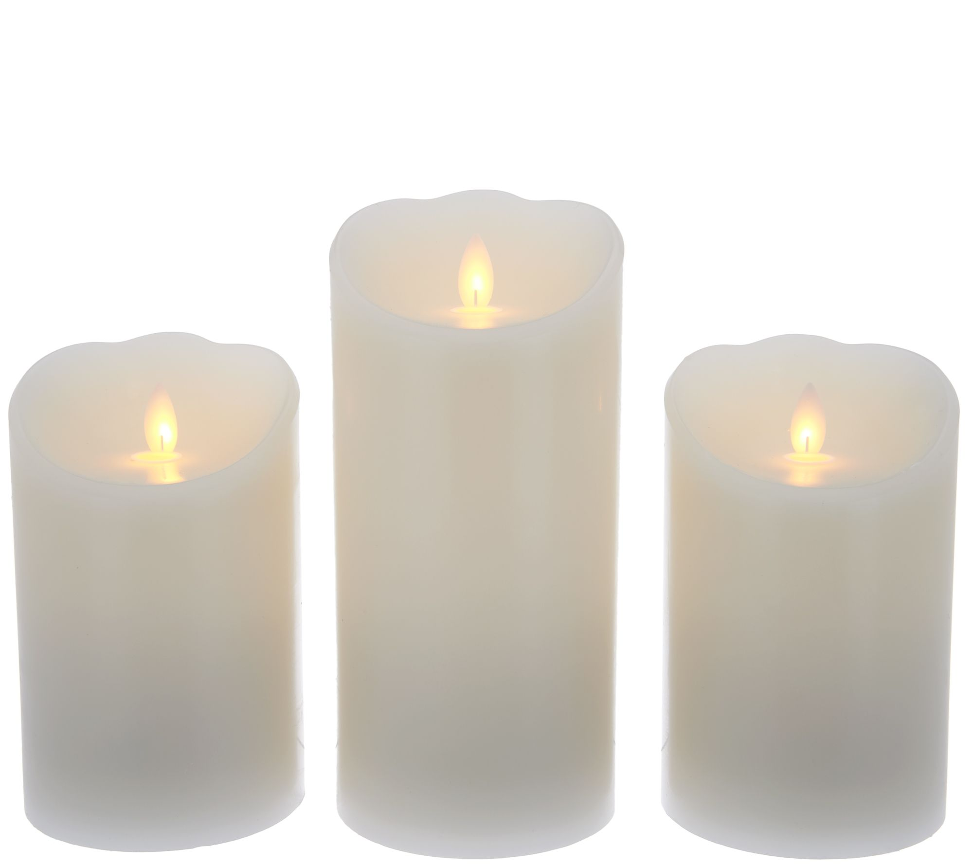 Candle Impressions Set of 3 Mirage Gold Pillar Candles - Page 1  QVC.com