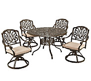 Home Styles Outdoor Floral Blossom Taupe 5-Piece Dining Set - H284360