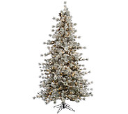 6.5 Flocked Anchorage Mulit Tipped Pine Tree by Valerie - H285460