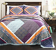 Abbie 3-Piece Patchwork Full/Queen Quilt Set byLush Decor - H289660