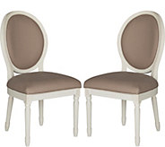 Holloway Set of 2 Oval Side Chairs by Valerie - H291660
