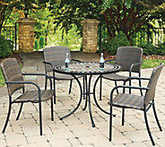 Home Styles 5-Piece 39 Round Outdoor Dining Table & 4 Chairs - H291760