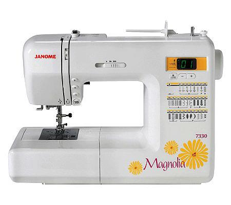 Janome Magnolia 7330 Computerized Sewing Machine  QVC