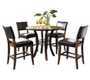 Hillsdale Cameron 5pc Ctr Ht Rnd Dining Set w/Parson Chairs - H358760