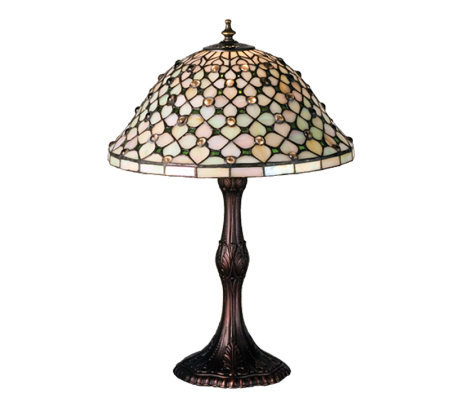 Tiffany Style Diamond Amp Jewel Table Lamp QVC