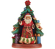 Jim Shore Heartwood Creek Santa with Tree Set Figurines - H209961
