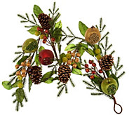 As Is 4 Beaded Fruit Garland by Valerie - H210761