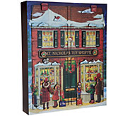 Byers Choice 18.5 Countdown to Christmas Toy Shoppe Advent Calendar - H212061