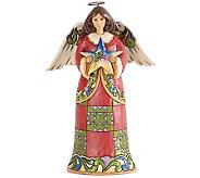 Jim Shore Heartwood Creek Angel w/ Nativity Star Figurine - H281461