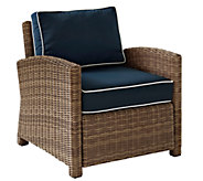Crosley Bradenton Wicker Arm Chair w/ Cushions - H286661