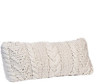 Berkshire Blanket Cable Knit Long Pillow - H287961