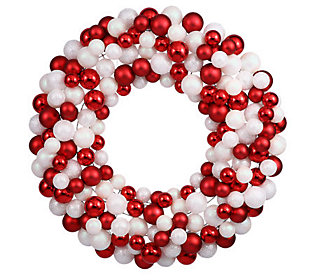 "36"" Candy Cane Ball Wreath by Vickerman"