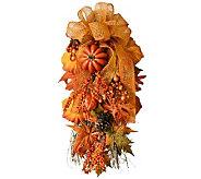 30 Fall Harvest Door Swag by Valerie - H364361