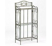 Pewter 3 Tier Bathroom Storage Rack - H155562