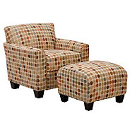 Handy Living Lincoln Park Retro Egg Chair & Ottoman - H177662