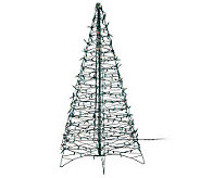 Pre-Lit 5 Fold Flat Outdoor Christmas Tree by Lori Greiner - H200762