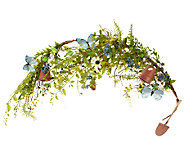 Gardeners Garland with Flower Pots & Tools - H202062