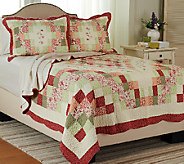 Garden Patchwork 100Cotton Twin Quilt Set with Sham - H205862