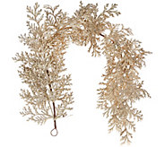 4 Glittered Leaf and Cedar Garland - H206662