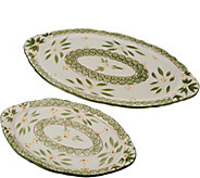 Temp-tations Old World Set of 2 Serving Platters - H207362