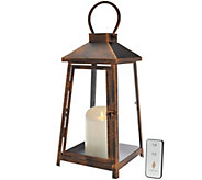 Luminara 14 Hampton Indoor Outdoor Lantern with Flameless Candle & Remote - H207662