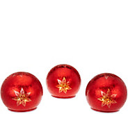 Set of 3 Illuminated Winter Frost Spheres by Valerie - H208962