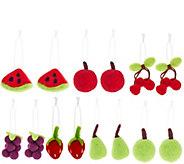 As Is ED On Air Set of 14 Felt Ornaments by Ellen DeGeneres - H210362