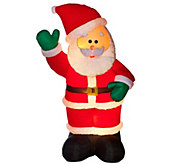 As Is Kringle Express Inflatable Holiday Icon w/ Faux Fur - H210962