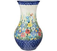 Lidias Polish Pottery Hand Painted 9 Vase - H211362
