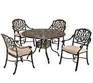 Home Styles Floral Blossom Taupe 5-Pc Dining Set, Arm Chairs - H284362
