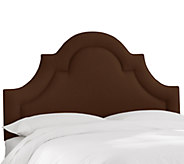 Queen Arched Border Headboard in Linen by Valerie - H284662