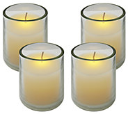 Set of 4 Frosted Glass Votives by Brite Star - H285662