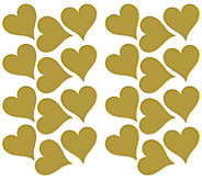 RoomMates Goldtone Heart Peel & Stick Wall Decals - H291162
