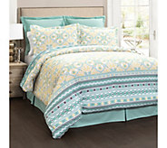 Carlene 6-Piece Blue Full/Queen Comforter Set by Lush Decor - H292562