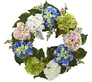 24 Hydrangea Wreath by Nearly Natural - H295562