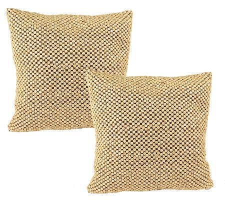 Qvc Decorative Pillows : The Sak Set of 2 Decorative Pillows with Beaded Detail ? QVC.com