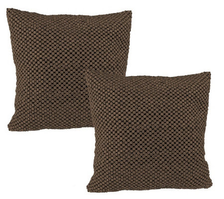 The Sak Set of 2 Decorative Pillows with Beaded Detail - H97162 ? QVC.com