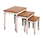 Country Cottage Solid Wood Nesting Table Set byOffice Star - H123863